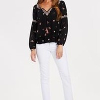 Embroidered Tassel Top by LOVESTITCH