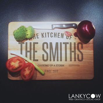 Solid Birch Wood Chopping Board - personalised chopping board - cutting board - lasered wood - Bespoke cutting board