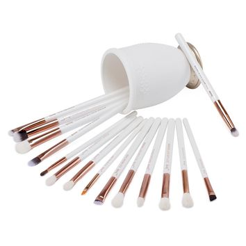 Pearl White Rose Gold Professional Makeup Brushes Set 15Pcs