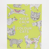 Books | Keep Calm & Color Cats Colouring Book at ASOS
