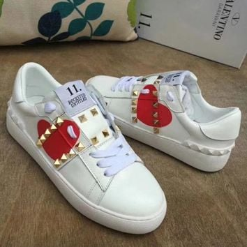 """""""VALENTINO"""" New Rivet Casual Shoes"""