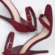 Suede Ankle Strapped Stiletto Heels