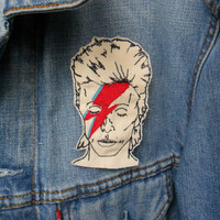 David Bowie Embroidered Patch/Brooch