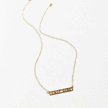 UO Souvenir X Seoul Little New York Signature Bar Necklace