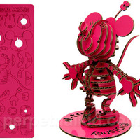 MINI CARDBOARD MINNIE MOUSE