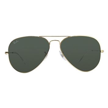 Ray Ban - Aviator Large Metal Gold - Green - Style: Rb3025 - Beauty Ticks