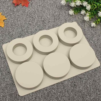 Silicone Round Circle Soap Wax Candle Mould Gumpaste Mold Aromatherapy Wax Plaster Crystal Epoxy Making Silicone Mold Supplies