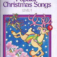 1986 Vintage Popular Christmas Songs, Level 1, Arrange James Bastien, 24 Pages, 11 Songs, Neil A Kjos Music Co, Vintage Music Book, Holiday