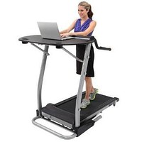 Treadmill Desk Computer Workstation with Safety Handles
