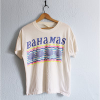 Vintage 80's • ISLANDER • Electric Sea Shells Bahamas Graphic Tee
