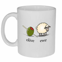 Olive Ewe (I Love You) Coffee or Tea Mug
