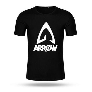 2017 Brand New Justice League Green Arrow T Shirt O-Neck The Fashion Super Hero T-Shirts Cotton Shirt Tees Short Sleeve Tops
