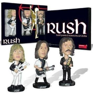Rush Bobblehead Dolls - Alex, Geddy, and Neil - Collectible Set