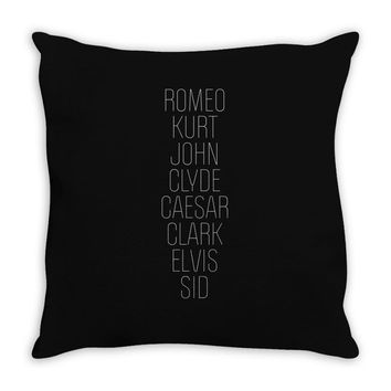 Romeo (Romeo & Juliet Couples Design) Throw Pillow