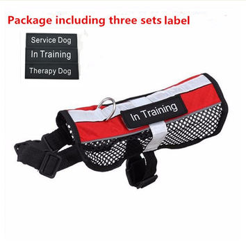 Reflective Breathable Service Dog Harness