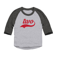 Birthday Shirt Toddler 3/4 Sleeve Baseball Raglan
