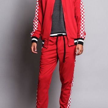 Men's Checkered Track Suit ST500 - O1B
