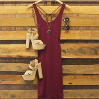 Zandra Dress - Burgundy