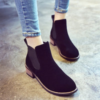 Hot Deal On Sale Pointed Toe Dr. Martens With Heel Boots [9432935370]