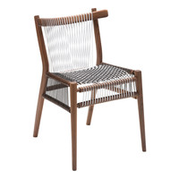 Loom Chair Walnut, Black and White Cords by H
