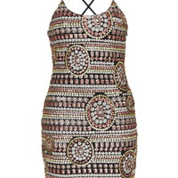 **Gold Pink Tone Sequin Slip Dress by WYLDR - New In Dresses - New In