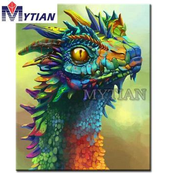 "New 'Color dragon head"" full Embroidery Pattern 5D DIY diamond paintings 3D Cross stitch kits mosaic stickers handmade crafts"