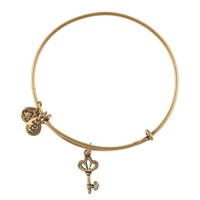 Alex and Ani Skeleton Key Charm Bangle - Russian Gold