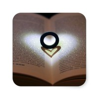 Love Ring and Shadow Heart Sticker
