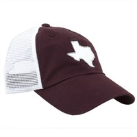 Texas College Station Gameday Trucker Hat in Maroon by State Traditions