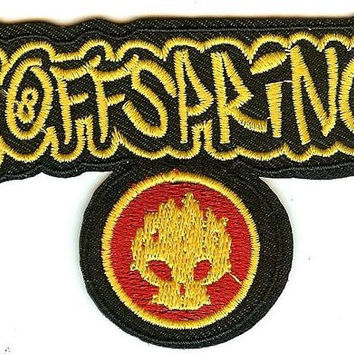 The Offspring Iron-On Patch Yellow Letters Skull Logo