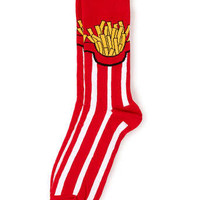 Red Fries pattern Socks - Limited Edition  - Clothing