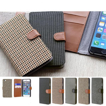 Fabric Type Soft Diary Case for iPhone 6s / 6