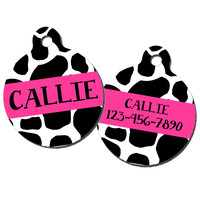 Cow Monogrammed Pet ID Tag