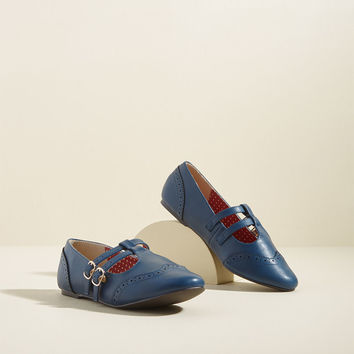 B.A.I.T. Footwear Double Trouble Flat in Navy