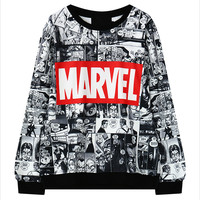 Black Comics Print Sweater