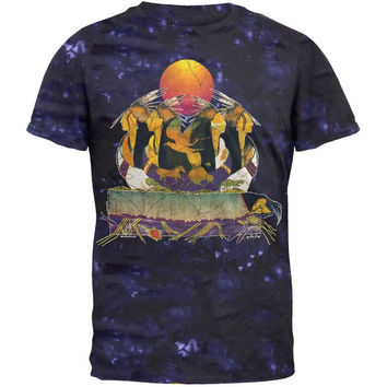 Batik Indians Purple Tie Dye  T-shirt