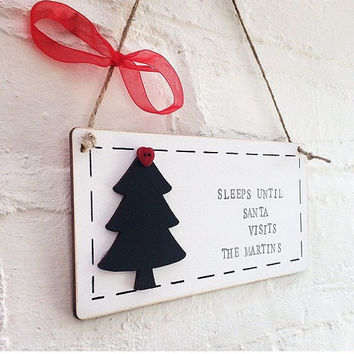 Countdown To Christmas Plaque, christmas countdown, chalk boad, personalised plaque, christmas gift, christmas decoration