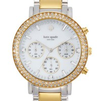 Women's kate spade new york 'gramercy grand' crystal bezel multifunction bracelet watch, 38mm - Gold/ Silver/ White