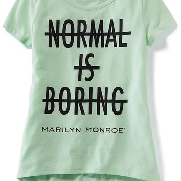 Old Navy Girls Licensed Marilyn Monroe Tee