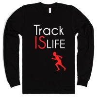 Track is life-Unisex Black T-Shirt