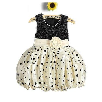 Flower Girls Dresses For New Year Clothes Party Baby Girls Kids Party Wear Children Clothing Little Princess Bubble Dress Size 4