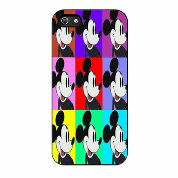 walt disney retro andy warhol mickey mouse cases for iphone se 5 5s 5c 4 4s 6 6s plus