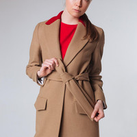 Beige Coat Camel Coat Spring Women Coat Wool Coat Nude Coat Trendy Coat Long Coat Classy Coat Beige Outwear