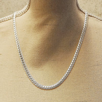 ".925 STERLING SILVER ""S"" CHAIN NECKLACE 20"" x 5mm wide"