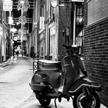 Vespa Scooter Alley Reproduction Photograph 8x10 inch