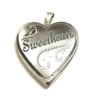 Sterling Sweetheart Heart Locket Pendant