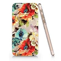 Floral Slim Pattern Iphone 6 Case, Clear Iphone 6 Hard Cover Case (For Apple Iphone 6 4.7 Inch Screen)-Emerishop