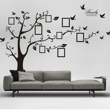 Removable Living Room Tree & Bird Wall Stickers Art Decal Home Decor Wall Art (Size: XS) [8045598599]