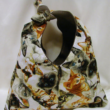 Cats Galore Tie Purse - OOAK