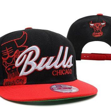 DCCKBE6 Chicago Bulls NBA 9FIFTY Hat Windy City Patch Black-Red